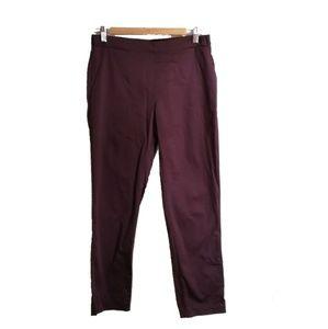 3/30$ UNIQLO Bordeaux Elastic Waistband Pants, M